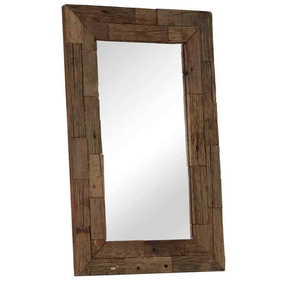 Specchio in Legno Massello di Recupero 50x80 cm 8