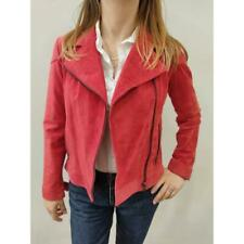Giacca donna guya g in pelle scamosciata rossa tg.s