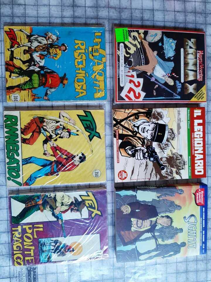 Fumetti Bonelli: romanzi, Tex, Martin Mystere