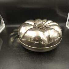 Scatola zucca silver plated