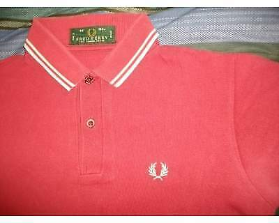 Polo Fred Perry rossa originale usata tg. 40 (S)