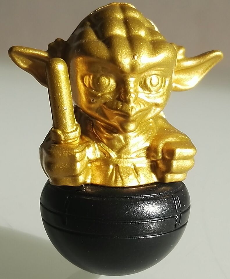 Yoda dorato - star wars esselunga rollinz - golden yoda