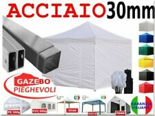 Gazebo 3x3 portatile bianco mercato natale fiere