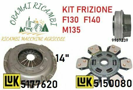 "Kit frizione luk 14"" trattori fiat new holland"