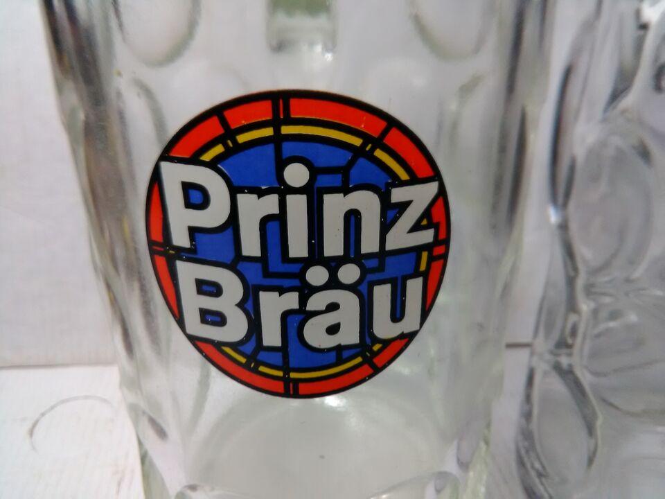 4 boccali in vetro della birra pubblicitari anni 60 e 70 3