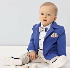 Abito da battesimo elegante blu-beige 1972