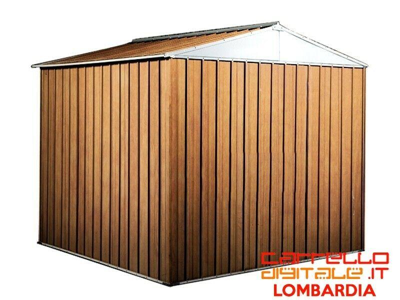 Box baracca lamiera Acciaio 275x175cm finitura legno 3
