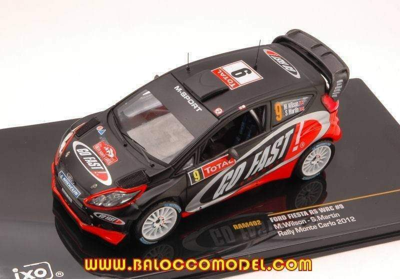 Ixo model ram492 ford fiesta rs wrc n.9 11th monte carlo 2012 wilson-m
