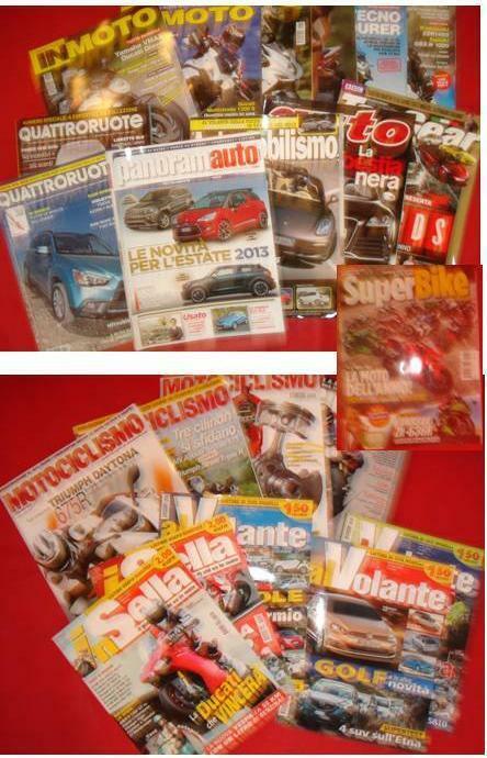 22 riviste moto sella quattroruote automobilismo...