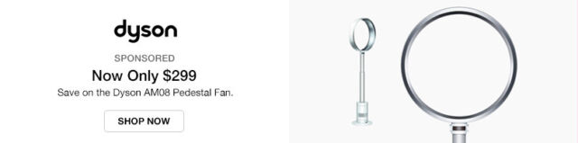 Save on the Dyson AM08 Pedestal Fan