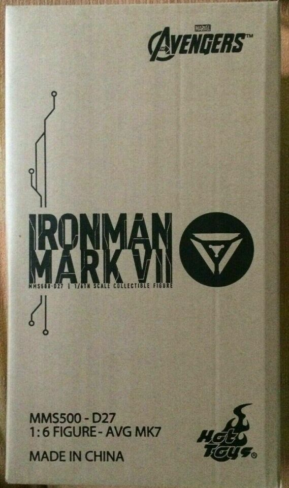 Hot toys iron man mark 7 vii diecast avengers 1/6 no sideshow