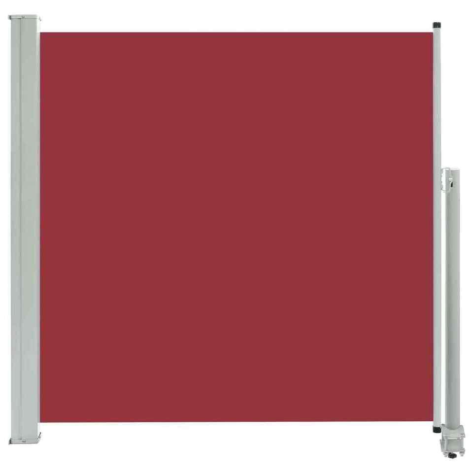 Tenda Laterale Retrattile per Patio 160x300 cm Rossa 2