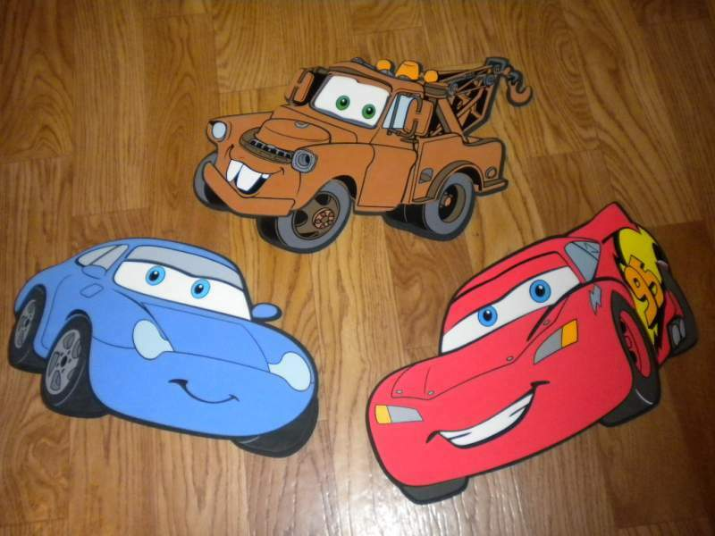 3 stickers giganti DECOFUN Cars Disney PIXAR introvabili