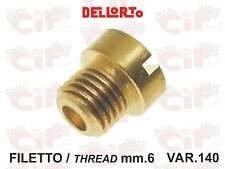 Getto carburatore misura 140 filetto mm.6 12140 confez.2 pz