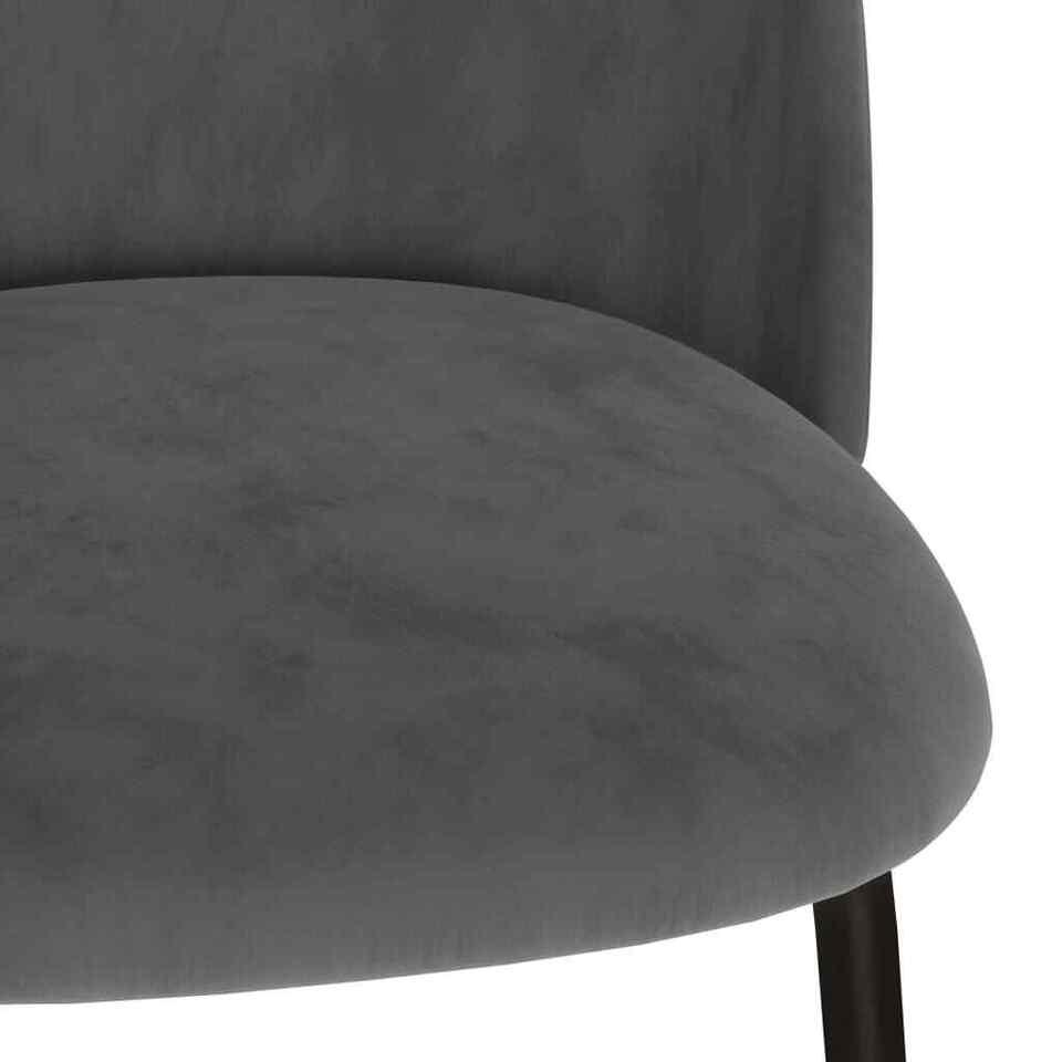 Sedie da Pranzo 4 pz Grigie in Tessuto 6