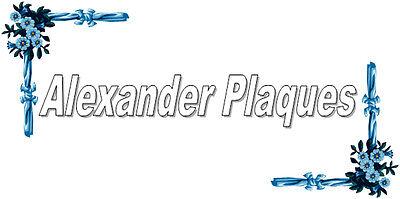 Alexander Plaques