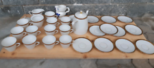 Set tazzine / piattini in ceramica