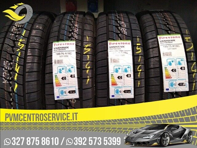 Gomme nuove 195 75 16c firestone 4stagione 15141