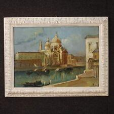 Dipinto italiano firmato veduta di Venezia