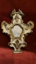 250 - antica cornice laccata e dorata 30x23cm