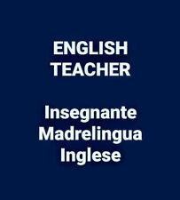 English lessons - Insegnante madrelingua inglese - Online