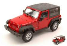 Welly we22489cr jeep wrangler rubicon 2007 soft top red 1:24