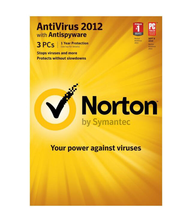 Symantec Norton Anti-Virus with Anti-Spyware 2012