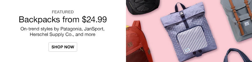 On-Trend Backpacks from $24.99