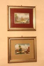 Coppia di quadri dipinti