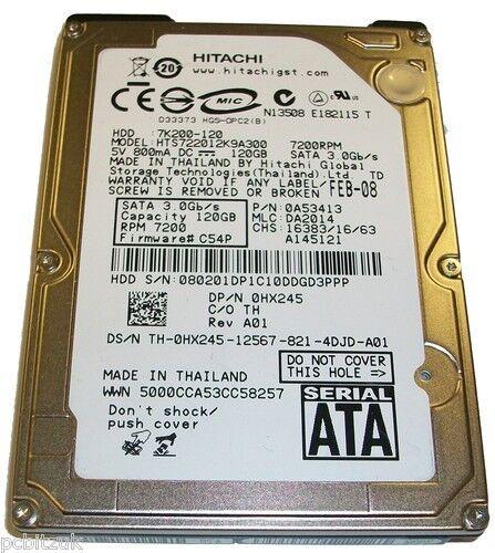Hitachi 120GB SATA Laptop Hard Drive
