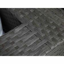 Beliani Sedia poltrona da giardino in rattan grigio con cuscini bianch