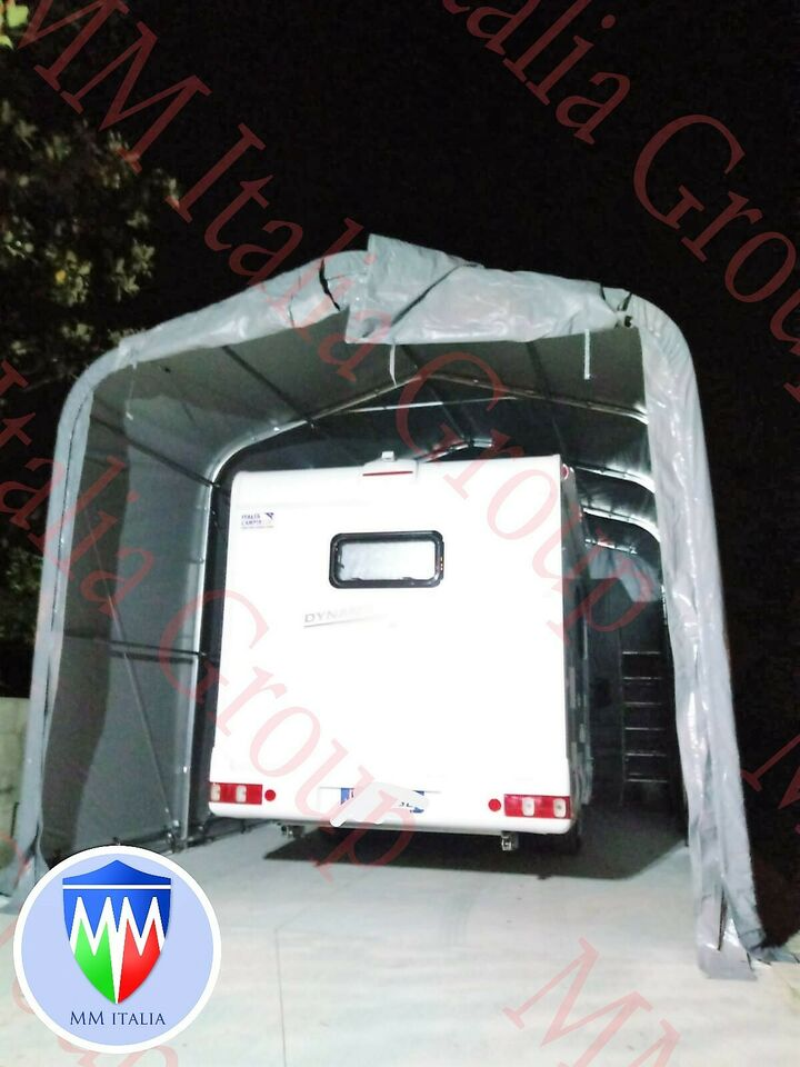 Tunnel Tendone Rimessaggio Camper 4 x 8 x 3,35 mt. Prof.