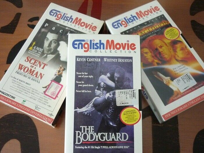 English movie: Armageddon, The Bodyguard, Profumo di donna