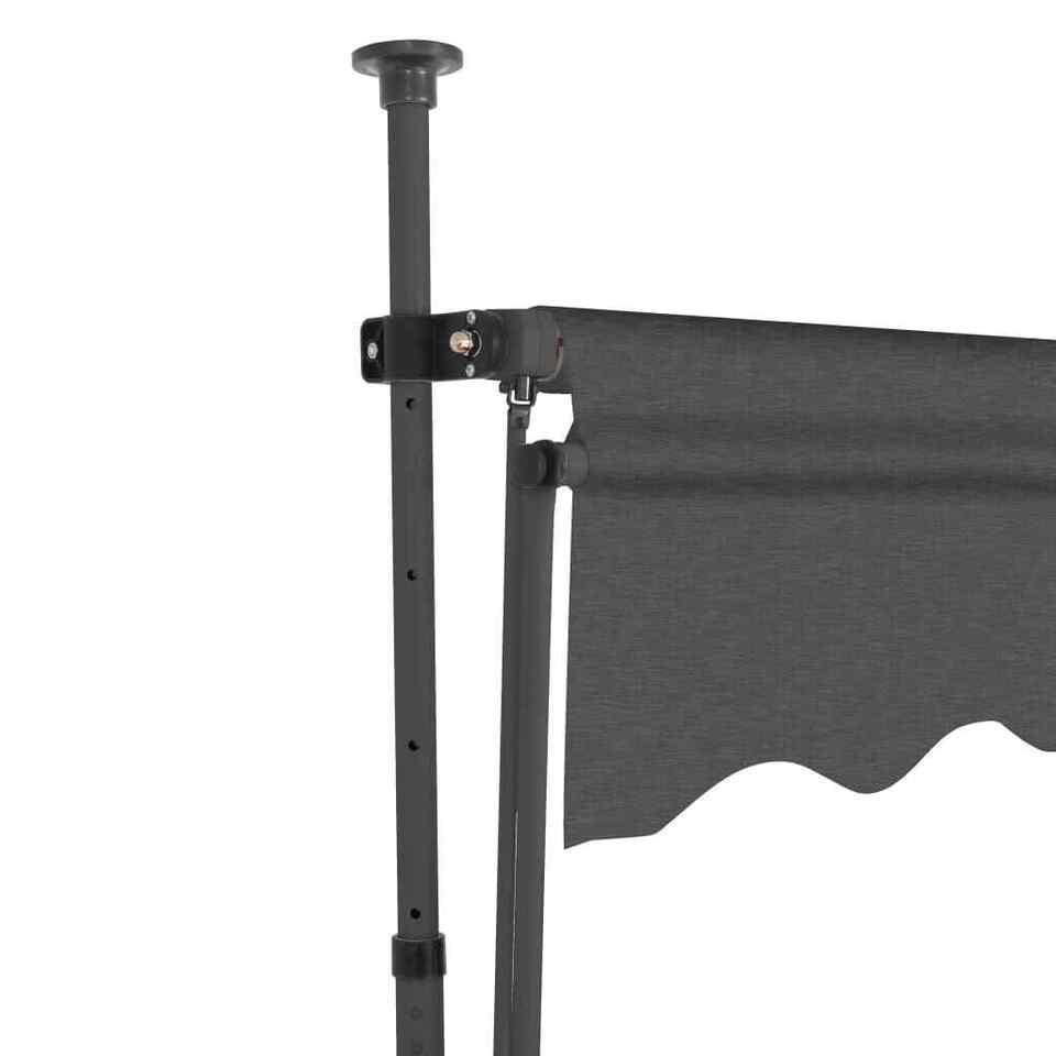 Tenda da Sole Retrattile Manuale con LED 200 cm Antracite 4