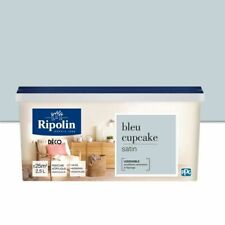 RIPOLIN All Pieces Wall Paint - Satin Blue Cupcake, 2.5L