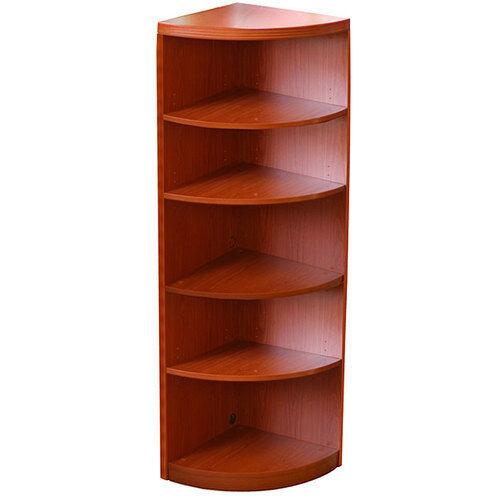 Five-Shelf Quarter Round Bookcase