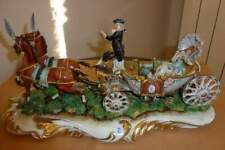 Carrozza con dama in capodimonte