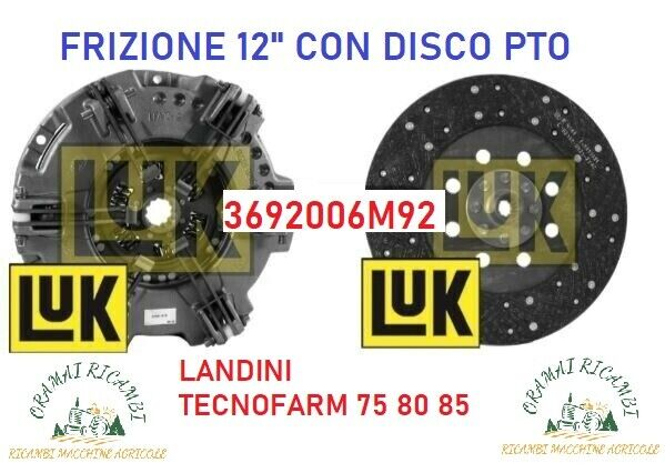 """Frizione luk 12""""con disco pto trattori landini"""