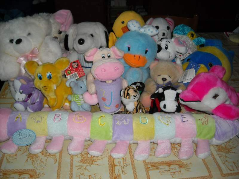Stock 18 peluches