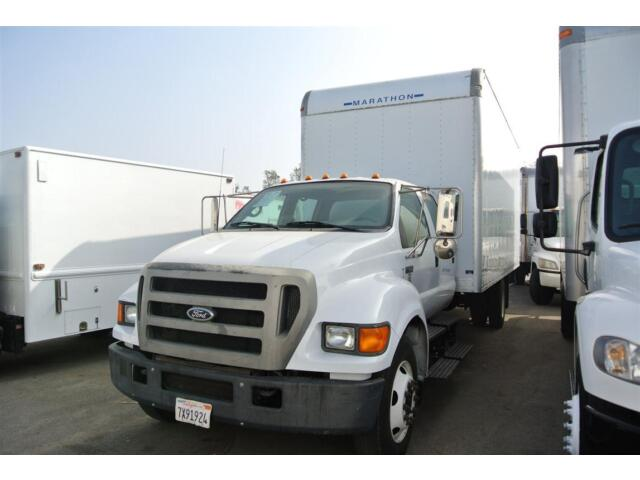 Ford F650 Crew Cab Box Truck Moving Freightliner International Chipper Dump Hino