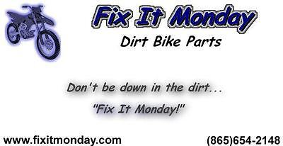 Fix It Monday Dirt Bike Parts