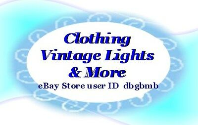 CLOTHING-VINTAGE LIGHTS-AND MORE