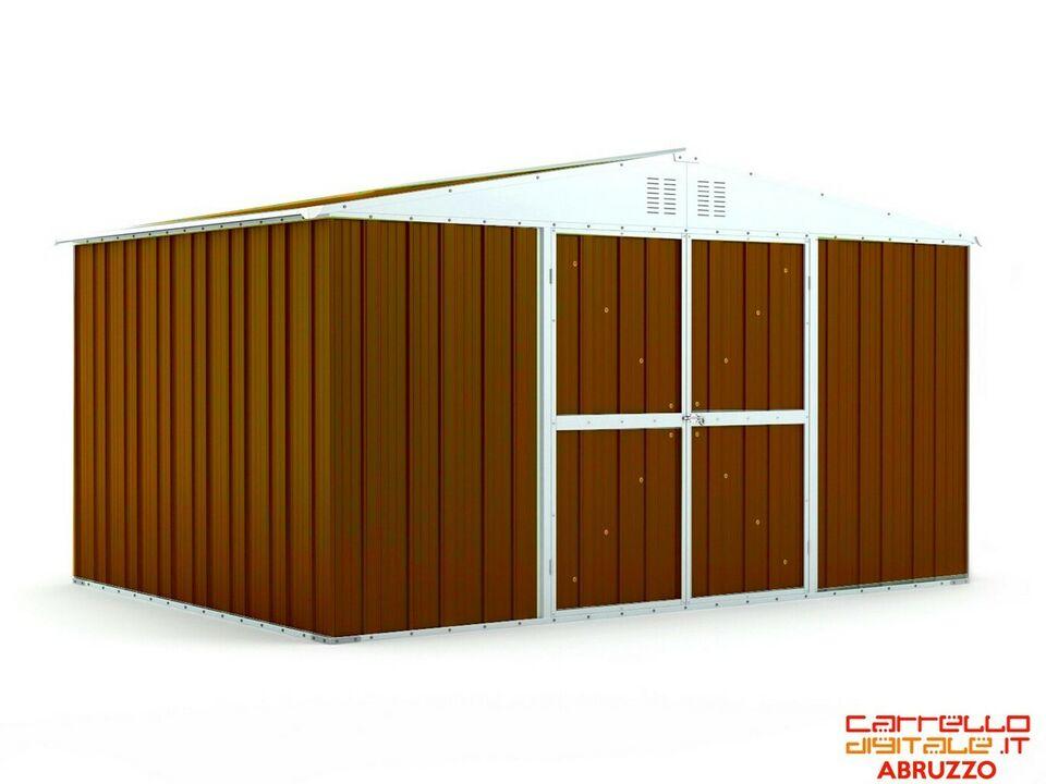 Box capanno lamiera Acciaio 403x269cm - marr scuro