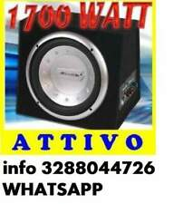 Subwoofer attivo bass box 1700watt + amplificatore integrato