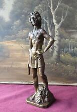 65vl Statuina in bronzo, raffigurante il Davide del Verrocchio
