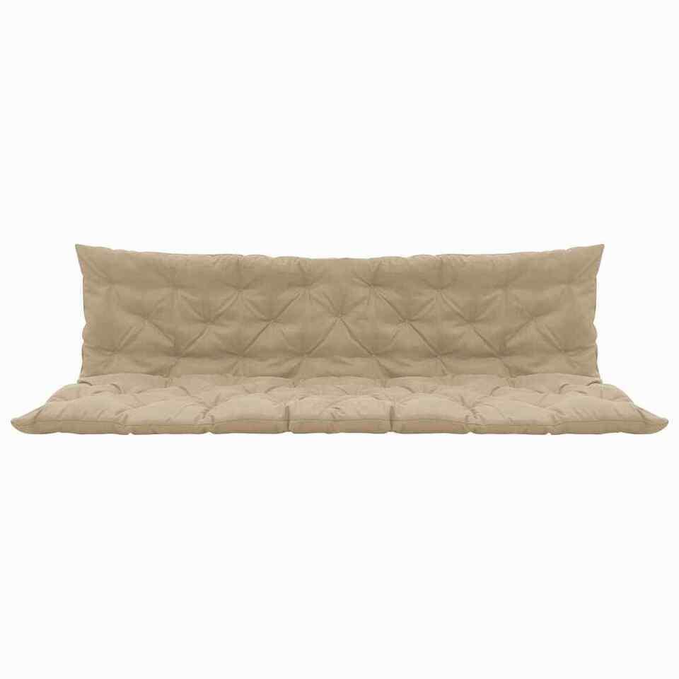 Cuscino per Dondolo Beige 180 cm in Tessuto 3