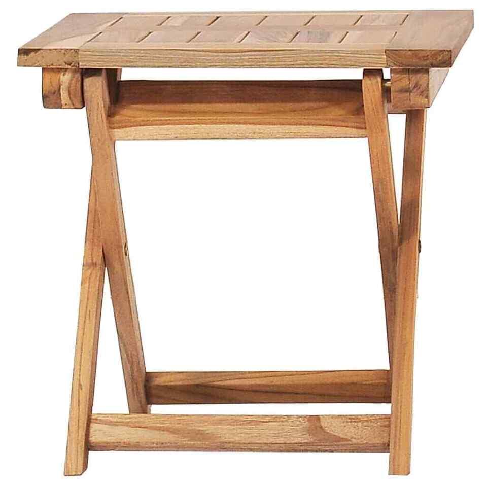 Sdraio da Giardino con Poggiapiedi e Tavolino in Teak Massello 7