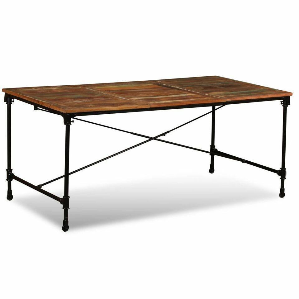 Tavolo da Pranzo in Legno Massello Anticato 180 cm 4