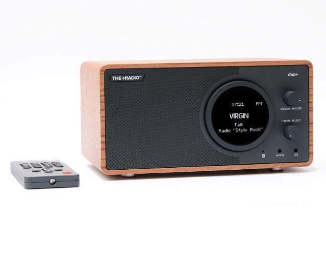 audio the+radiosveglia dab+/fm rosewood