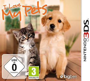 Nintendo 3DS Dual Screen Spiel ***** I Love My Pets *********************NEU*NEW